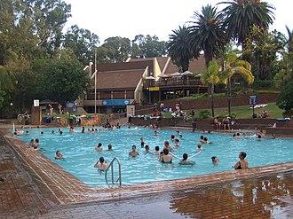 Badplaas - The main swimming pool at Badplaas