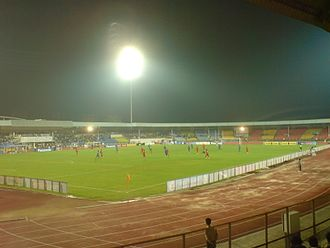 Pune F.C. - The Balewadi Sports Complex during a match between India and Vietnam on 8 October 2010.