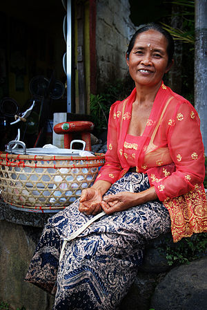 Women in Indonesia - Indonesian women often run small business to support their family, such as traders in marketplace or as street vendors.