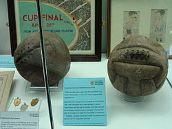 Balls from the 1930 World Cup final.jpg