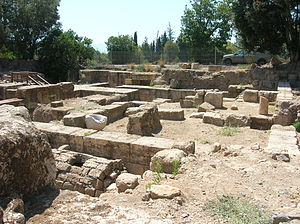 Banias - The remains of the palace of Philip II and/or Agrippa II