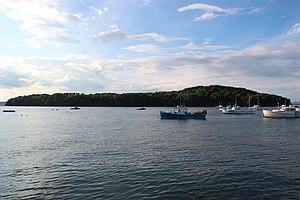 Bar Island - Bar Island at high tide, 2012