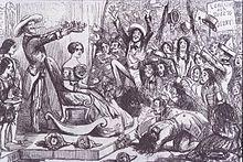 Zeitgenössische Karikatur: Starrummel um Jenny Lind in den USA (Quelle: Wikimedia)