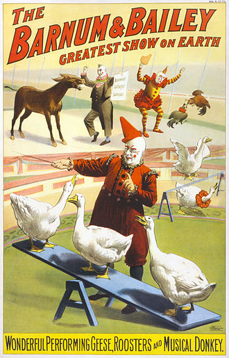 Circus - Advertisement for the Barnum & Bailey Circus, 1900