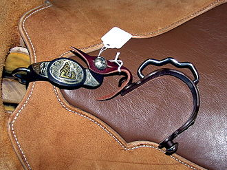 Spur - A pair of barrel-racing spurs with unique nonrowel design