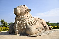 Nandi statue at Lepakshi