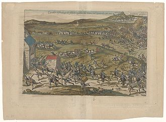 Battle of Gembloux (1578) - Engraving of the Battle of Gembloux by Frans Hogenberg.