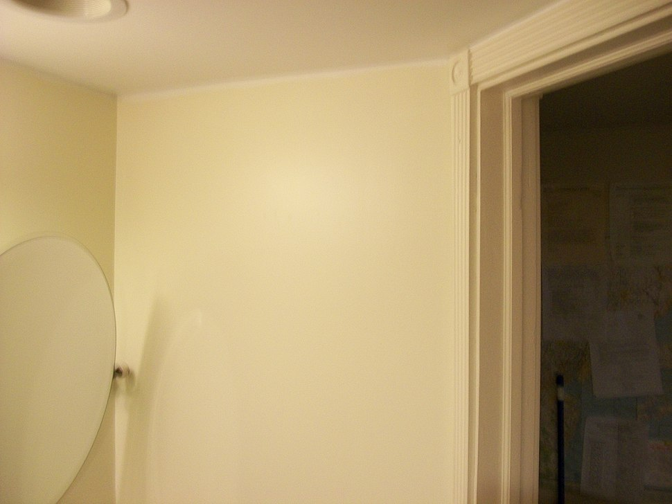Bathroom wall with 2x4s and sheetrocked