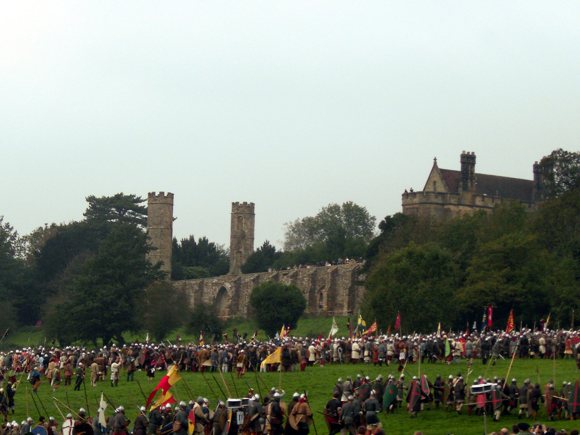 Re-enactors fighting the Battle of Hastings.