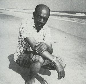 Edmond Hall - Hall on a beach in Ghana, 1950