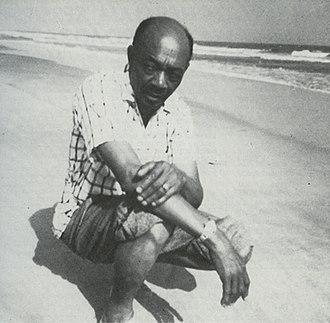 Edmond Hall - Hall on a beach in Ghana, 1950