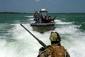 Belize - Belizean Coast Guard working with the United States Navy