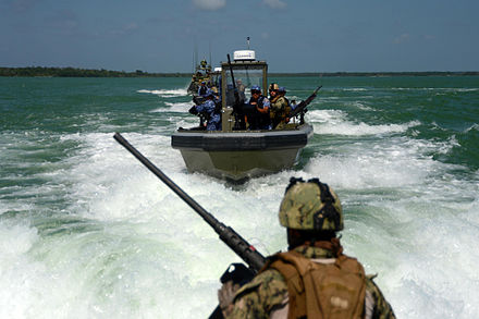 Belizean Coast Guard working with the United States Navy Belize Coast Guard and U.S. Navy Working Together.jpg