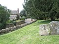 Bend in the road as seen from the churchyard at Steeple Aston - geograph.org.uk - 1461234.jpg