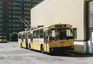 Mercedes-Benz O305 - Bergen trolleybus O305G in July 1989