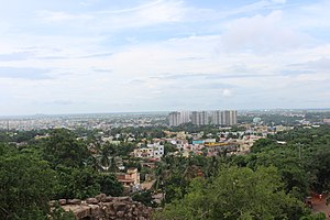 Bhubaneswar - Skyline of Bhubaneswar from Khandagiri hill