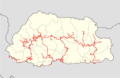 Bhutan highways blank location map.png