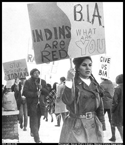 National Indian Youth Council demonstrations, Bureau of Indian Affairs Office Bia-sit-in.jpg
