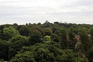Bidston Hill Hill and woodland in Bidston, Wirral, England