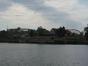 Geauga Lake - Big Dipper from across the lake.