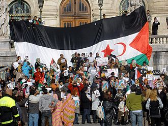 Political status of Western Sahara - A demonstration in Bilbao for the independence of the Western Sahara.