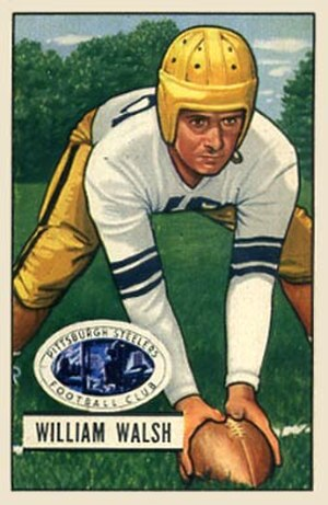 Bill Walsh (American football, born 1927) - Walsh on a 1951 Bowman football card