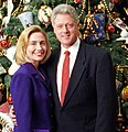 Bill and Hillary Clinton Christmas Portrait 1996 (cropped1) (cropped).jpg