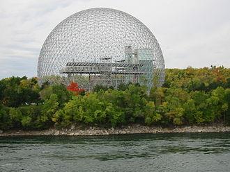 Buckminster Fuller - The Montreal Biosphère by Buckminster Fuller, 1967.
