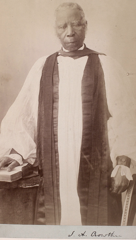 Photograph of Bishop Samuel Ajayi Crowther in 1867