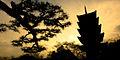 Bitchu Kokubunji pagoda across the background if dawn skies. Okayama, Okayama Prefecture, Chūgoku region, Japan.jpg