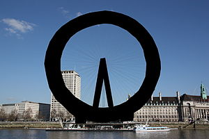 The Signpost - Image: Blacked out London Eye 2009