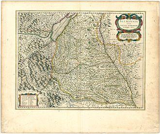 Upper Swabia - Upper Swabia in 1645