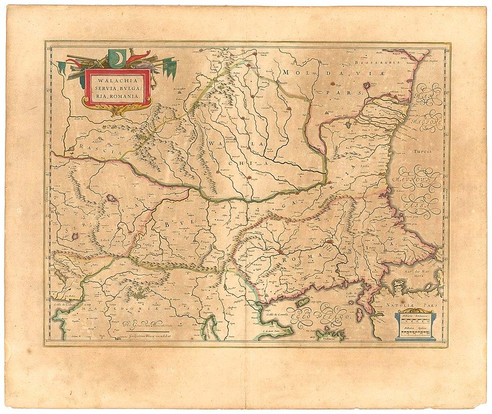 Blaeu 1645 - Walachia Servia Bulgaria Romania