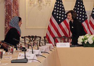 Cherie Blair - Blair with Lubna Khalid Al Qasimi