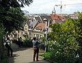Blick vom Schlossberg auf die Freiburger Altstadt mit Martinstor.jpg