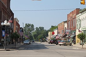 Downtown Blissfield along Lane Street