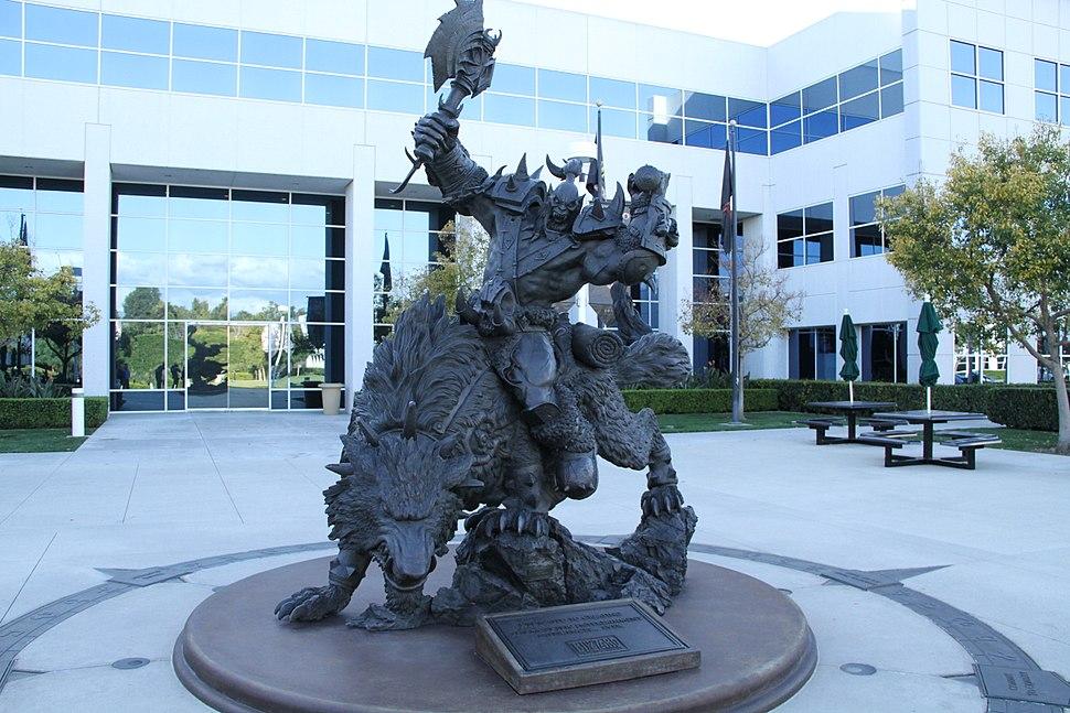 Blizzard Entertainment HQ statue