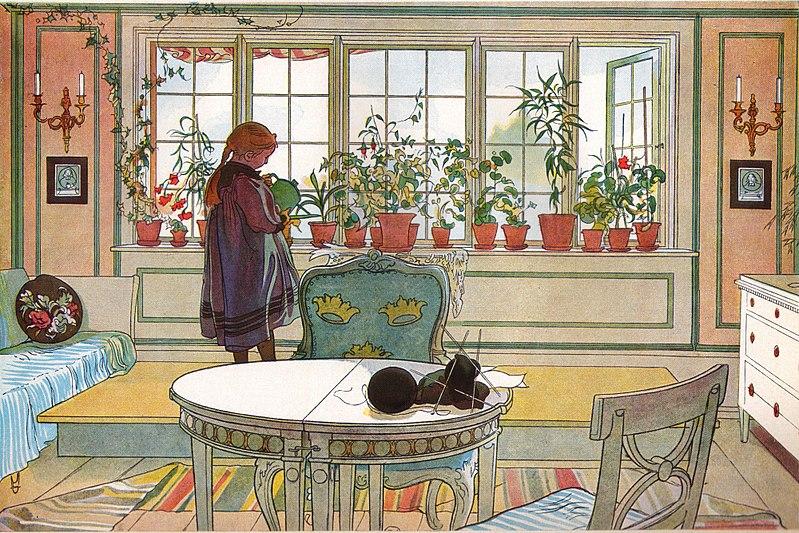 Файл: Blomsterfönstret av Carl Larsson 1894.jpg