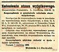 Bniński, Adolf - Informacja o zniesieniu stanu wyjątkowego w Poznaniu - 701-001-058-303.jpg