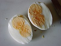 Hardboiled double-yolked eggs