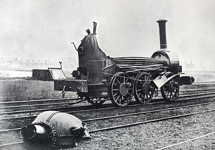 Aftermath of a boiler explosion on a railway locomotive, c.1850 Boiler explosion 1850.jpg