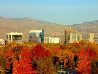Boise, Idaho - Downtown Boise in the fall of 2013