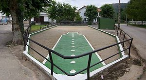 Basque bowls - A playing area for Cantabrian bolo palma