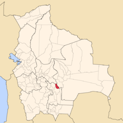 Location of Belisario Boeto Province within Bolivia