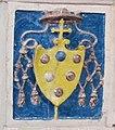 Bolsena, s. cristina, chiesa maggiore, int., ciborio di benedetto buglioni, predella stemma giovanni de' medici (leo X).jpg