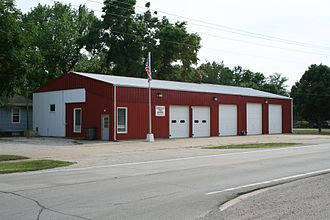 Bondville, Illinois - Bondville, Illinois Fire Station.