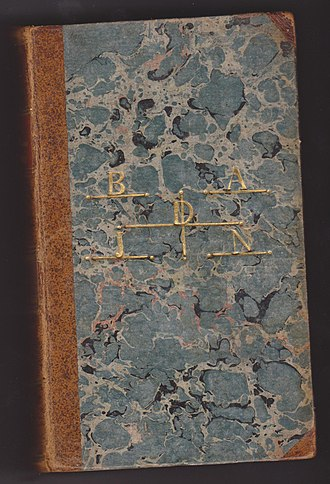 Gustav Badin - A book from the library of Badin, with his name lettered in gilt on front cover