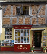 Bookshop in Much Wenlock, UK