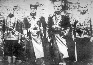 Šajkača - Serbian Partisans wearing the šajkača (1941).