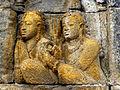 Borobudur - Lalitavistara - 002 E, Bodhisattva's Announcement that he will be Reborn on Earth (detail 4) (11248189823).jpg